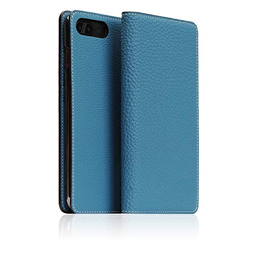 - [BONAVENTURA] German Shrunken Calf Leather Diary Case for iPhone 8/7 Plus I Luxury Fashion Flip Folio Book Case Wallet Cover with Feature Card Slots Compatible with iPhone 8/7 Plus (Aqua Blue)