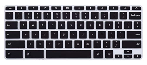 Keyboard Cover for 2018/2017 HP Flagship High Performance 11.6 Touchscreen Chromebook, HP Chromebook 11 G2 / G3 / G4 / G5 11.6 Inch Chromebook(NOT Fit for Chromebook 11 G5 EE and Other Models)(Black)
