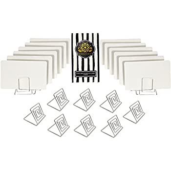CB Accessories Wire Place Card Holder Stands With White