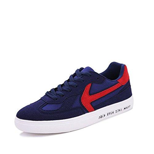 da tacco con Blu Sneaker Dimensione moda shoes rosso Color Blu Xiaojuan casual uomo EU di Rosso piatto 42 4AqXwcx8