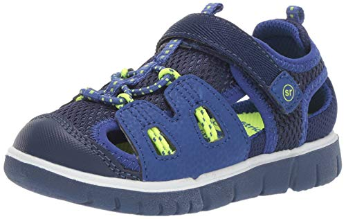 Stride Rite baby-boys River Sandal, navy 6 W US Toddler