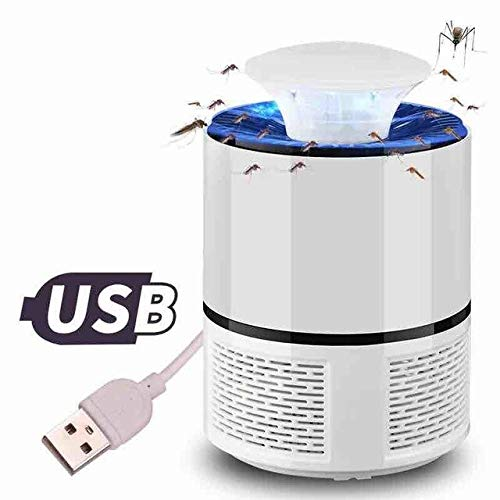 USB Electronics Mosquito Killer Lamp Zapper Repeller Bug Anti Mosquito Trap Electric Kill Insect Lights LED Mosquito Killer Lamp   White