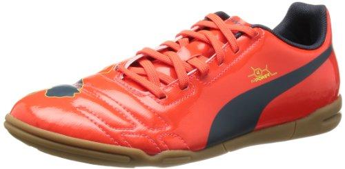Puma evoPOWER 4 IT Jr 102966 Unisex-Kinder Fußballschuhe, Rot (fluro peach-ombre blue-fluro yellow 01), EU 38 (UK 5) (US 6)