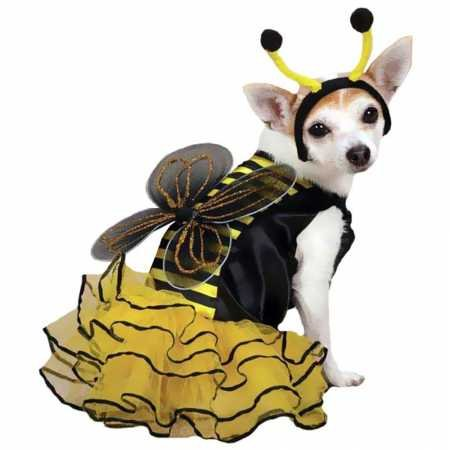 Casual Canine Bee Mine Dog Costume Yellow XSMALL
