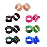 11 16 plugs silicone - 14pcs Camouflage Colors Soft Silicone Flexible Ear Skin Tunnels Plugs Expander Gauges Hollow Stretchers Piercing 5/8