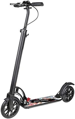 besrey Scooter for Adults, Kick Scooter Scooter Big Wheel 200MM Teen Kids Age 8 Year Up with Hand Brake Black with Carry Strap