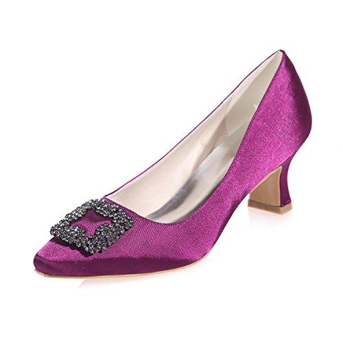 Frauen Hochzeit Schuhe Seide 0723-05 Spitze / Party Nacht & Frühling Sommer Herbst Winter Purple