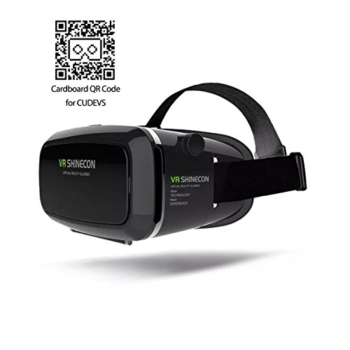 CUDEVS Virtual Reality Headset, 3D VR Glasses Virtual Reality Box for 3D Video Games, for iPhone 6 6s 7 Plus Samsung S7 S6 Edge S5 Note 5 and Other Smartphone - PLUS Version (Single VR)