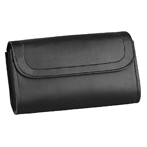 Windshield Bag - Raider Motorcycle Windshield Storage Bag Velcro Closure Black (10.5 in. x 6.5 in. x 3 in.)