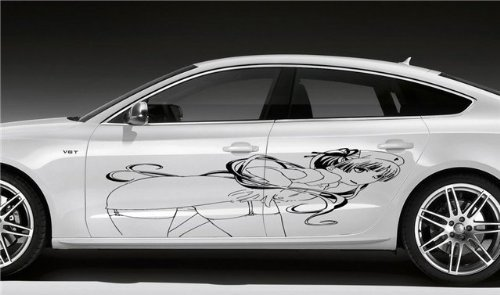 Vinyl Decal Mural Sticker Car Sexy Nurse Hot Smoking Anime Graphics Bikini Chick -