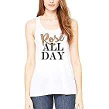 Rose All Day Womens Tank-Top Good Vibes Only No Bad Days Cami White S-XXL