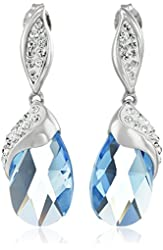 Sterling Silver Briolette-Cut Swarovski Crystal and Expoxy Elements Earrings