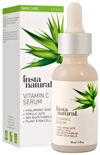 41zXd6b0hmL - InstaNatural Vitamin C Serum with Hyaluronic Acid & Vit E - Natural & Organic Anti Wrinkle Reducer Formula for Face - Dark Circle, Fine Line & Sun Damage Corrector - Restore & Boost Collagen - 1 oz