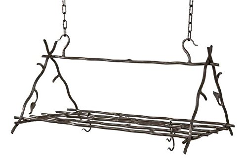 Sassafras Triangle Pot Rack (Natural Black)