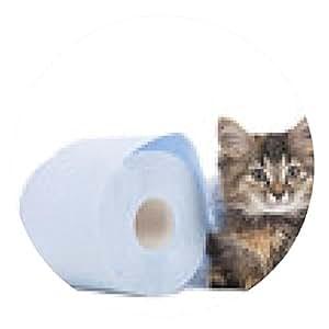 alfombrilla de ratón Gatito lindo con el rollo de papel higiénico - ronda - 20cm