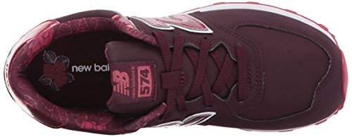 Burgundy Mixte New Balance bébé 574 Baskets Rouge gxvHwqF