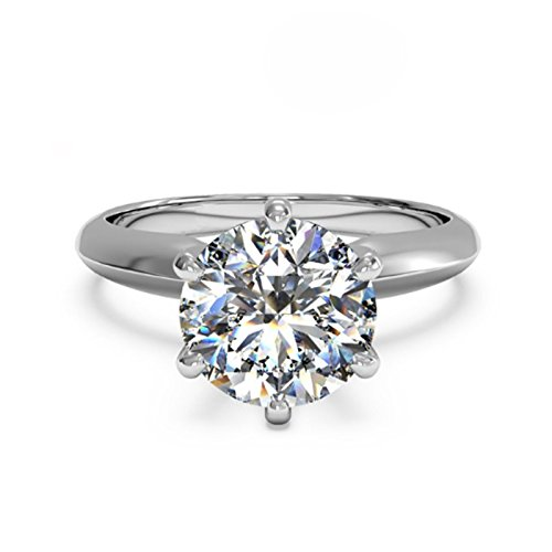 3 Ct CZ Solitaire Engagement R