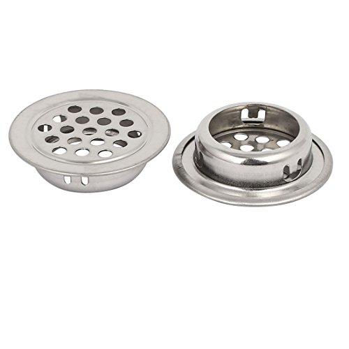uxcell 25mm Bottom Dia Stainless Steel Round Shaped Mesh Hole Air Vent Louver 30pcs by uxcell (Image #1)