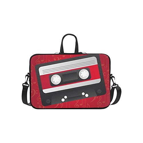 (Laptop Bag Retro Tape Tape Shoulder Bag Crossbody Bag Convenient for Men Women Business Personnel Girl Business Travelling Commercial Affairs University)