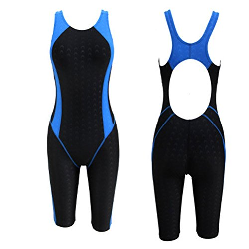 Zhuhaitf Alta calidad Comfortable Womens Tight Beachwear Adult Waterproof Quick-dry Swimsuit Black&Blue