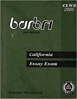 barbri california essay exam practice workbook