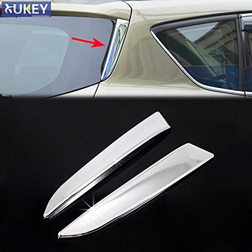 Exterior Parts For Ford Escape Kuga 2013 2014 2015 2016 2017 2018 Chrome Rear Trunk Window Spoiler Cover Side Pillar Post Trim Molding Garnish