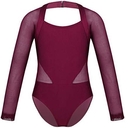 zdhoor Kids Girls Halter Ballet Dance Leotard Lace Back Sleeveless Gymnastics Outfits Jumpsuit Dancewear