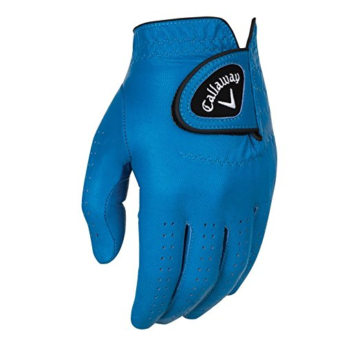 Callaway Golf 2017 Men's OptiColor Leather Glove, Blue, Large, Worn on Left...