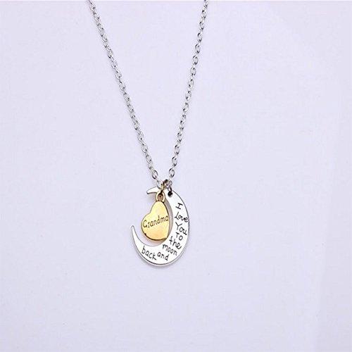 Clain Cadena Collar Colgante Daorier Grandma 1pc De Mujer Neklace Silver BqYpqOvRw