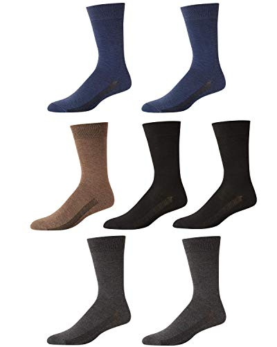 Van Heusen Mens Moisture Control Comfort Dress Socks With Reinforced Heel And Toe (7 Pack)