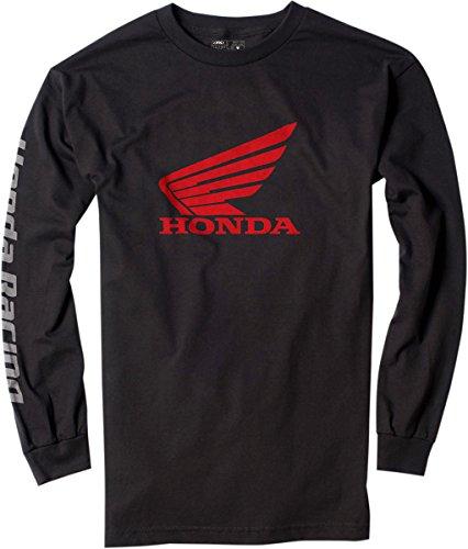 Factory Effex 17-87316 'HONDA' Long Sleeve T-Shirt (Black, X-Large)