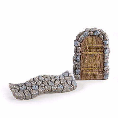 Darice Yard and Garden Minis Miniature Door and Walkway, 2 Piece - Tiny Door