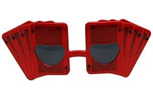 Red Poker Card Fashion Sunglasses