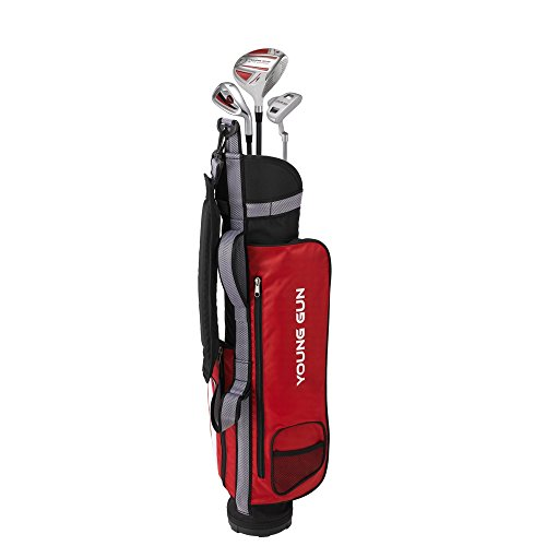 Junior Golf Shop (Young Gun ZAAP EAGLE RED Junior golf club Youth Set & bag for kids Ages 9-11)