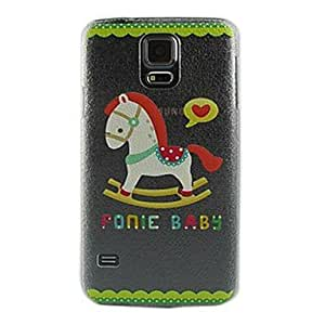 MOM Trojan Horse Design Pattern Transparent PC Hard Case for Samsung Galaxy S5 I9600