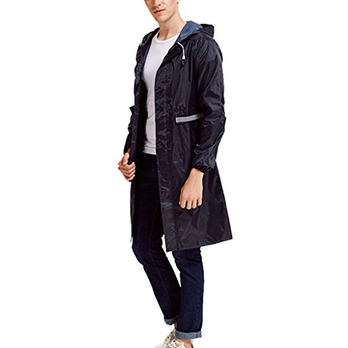 Price comparison product image Rain Suit- Drawstring Raincoat with Hoods and Sleeves Outdoor Work Rain Ponchos for Women and Men -Waterproof / Reusable / Portable zm (Size : XXL)