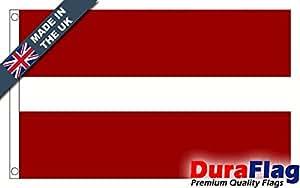 duraflag® Letonia bandera de calidad profesional (puerta y Cambiadas), 3ft x 2ft