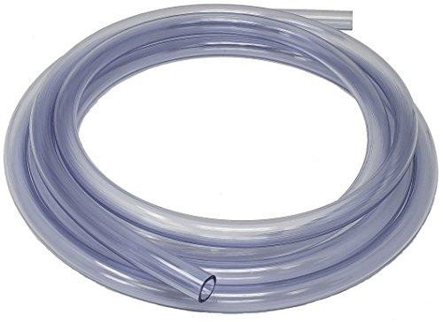 Sealproof Unreinforced PVC Clear Vinyl Tubing, 10 FT, 1/2-Inch ID x 5/8-Inch OD, 10 (Flex Vinyl Hose)