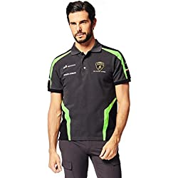 LAMBORGHINI Squadra Corse Men's Polo Shirt (X-Large) Dark Grey