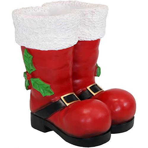 Sunnydaze Santa Boots Statue Indoor/Outdoor Christmas Decor, ()