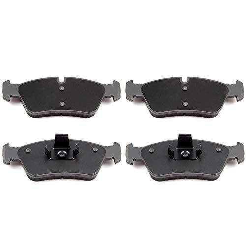 SCITOO Ceramic Discs Brake Pads, 4pcs Front Brake Pads Brakes Kits fit for 1996-1998 BMW 318i,1995-1999 BMW 318ti,2001-2006 BMW 325Ci,1997-2002 BMW Z3,2003-2008 BMW Z4