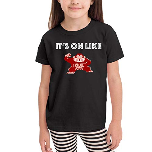 Rusuanjun It's On Like Donkey Kong Children's T-Shirt Black 5/6T Fun and Cute