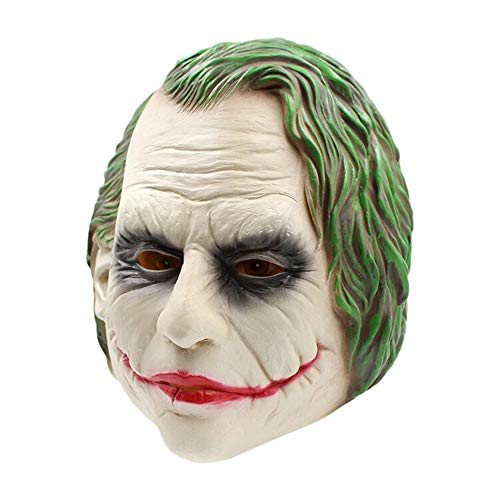 Nuoka Costume Cosplay Batman ClownThe Dark Knight Mask for Favors Party (Picture Color)