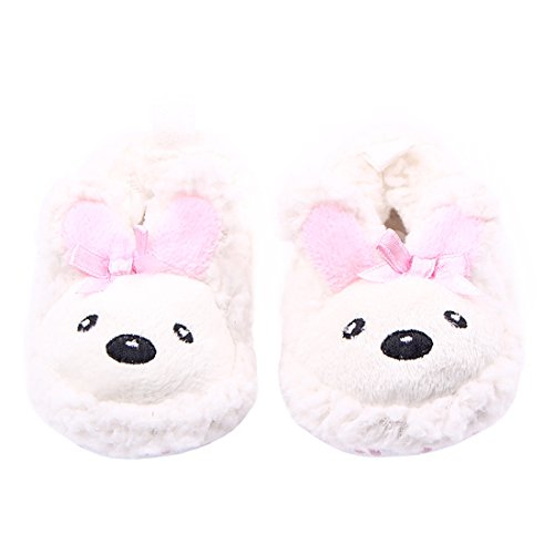 Beeliss Baby Loafers Cartoon Plush Crib Shoes (0-6 Months, White) Review