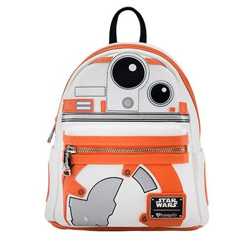 27edd347a499 Amazon.com  Loungefly x Star Wars BB-8 Applique Mini-Backpack (One ...