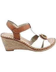 Rieker Womens Remonte, Newark Espadrille Wedge Heel Sandals