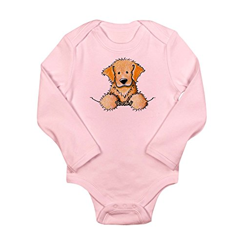CafePress - Pocket Golden Retriever Long Sleeve Infant Bodysui - Cute Long Sleeve Infant Bodysuit Baby Romper