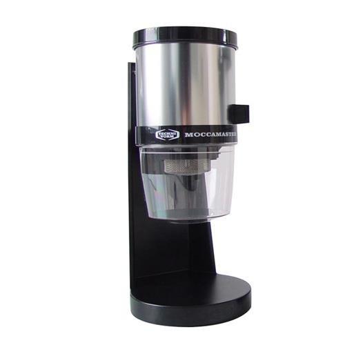 Moccamaster 49321 KM4 Kaffeemühle Tisch Modell poliert Aluminium, 30 x 15 x 15 cm, schwarz