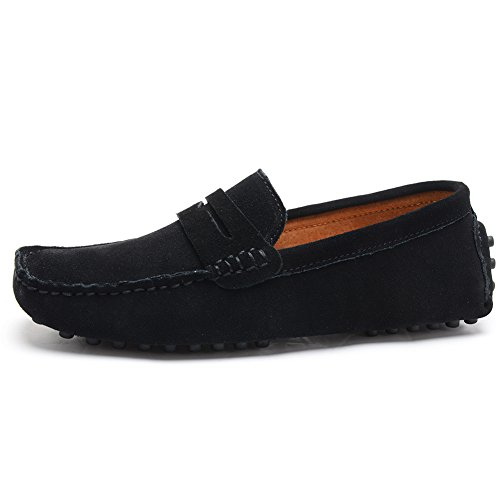 Odema Shoes On Moccasins Mens Loafers Driving Penny Suede Slip Black Boat 7pgSnqwU7