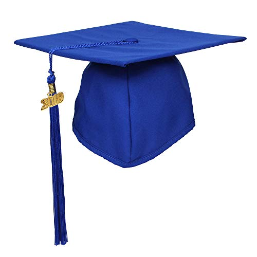 - GraduationForYou Unisex Matte Adult Graduation Cap with Tassel 2019 Royal Blue